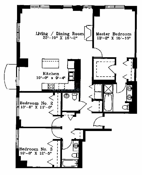 1122 N Dearborn Floorplan - J Tier