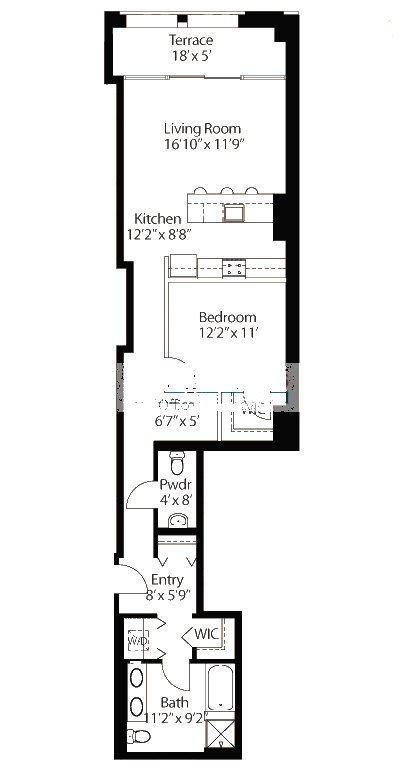 565 W Quincy Floorplan - 01 Loft Tier*