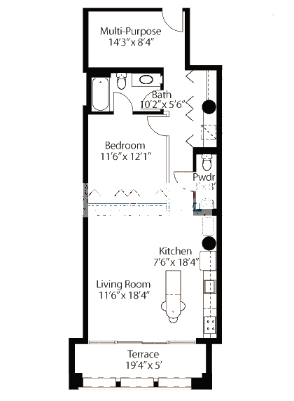 565 W Quincy Floorplan - 12 Loft Tier*