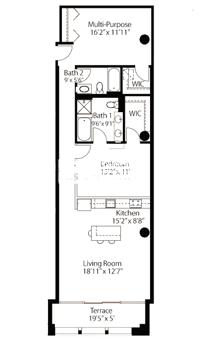 565 W Quincy Floorplan - 14 Loft Tier*