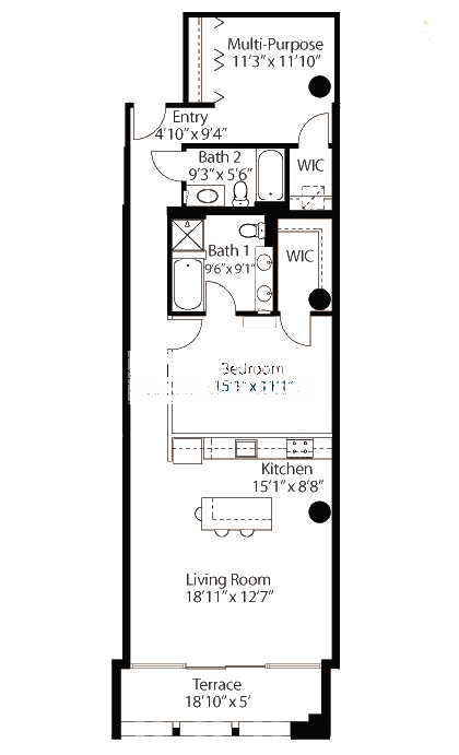 565 W Quincy Floorplan - 15 Loft Tier*