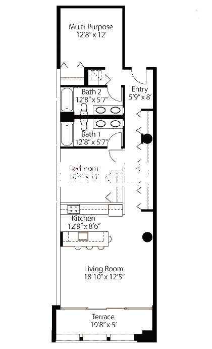 565 W Quincy Floorplan - 17 Loft Tier*