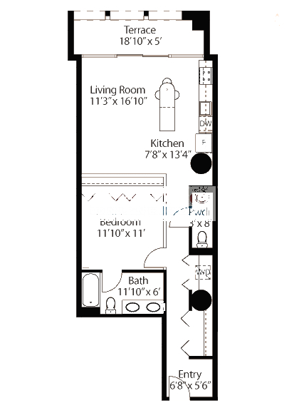 565 W Quincy Floorplan - 03 Loft Tier*