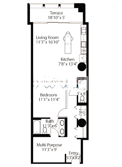 565 W Quincy Floorplan - 04 Loft Tier*