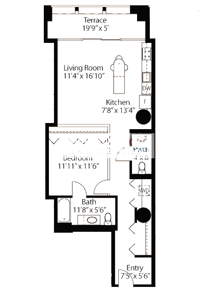 565 W Quincy Floorplan - 05 Loft Tier*