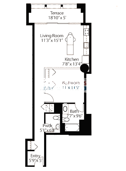 565 W Quincy Floorplan - 06 Loft Tier*