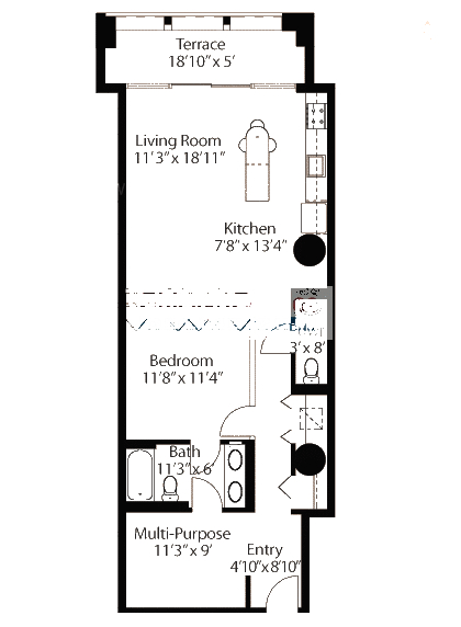 565 W Quincy Floorplan - 07 Loft Tier*