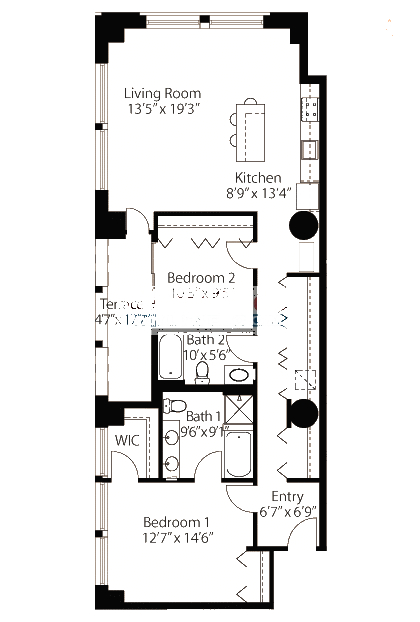 565 W Quincy Floorplan - 08 Loft Tier*