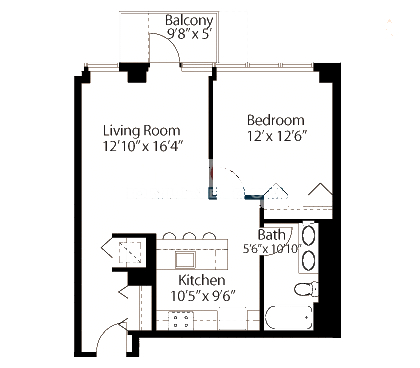 565 W Quincy Floorplan - 01 Tower Tier*