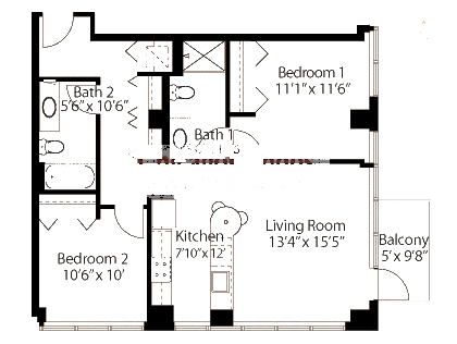 565 W Quincy Floorplan - 10 Tower Tier*