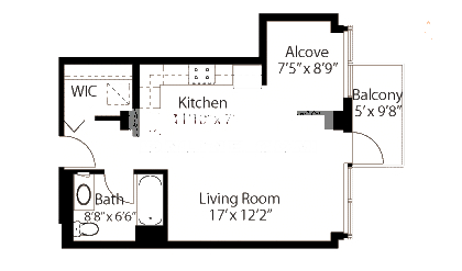 565 W Quincy Floorplan - 11 Tower Tier*