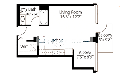 565 W Quincy Floorplan - 12 Tower Tier*