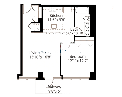 565 W Quincy Floorplan - 17 Tower Tier