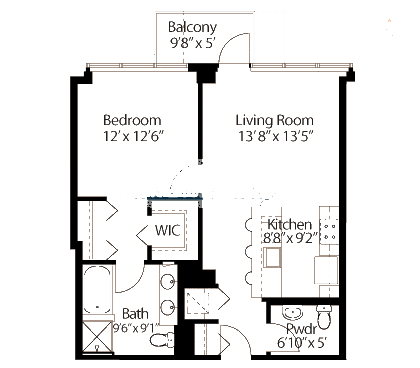 565 W Quincy Floorplan - 02 Tower Tier*