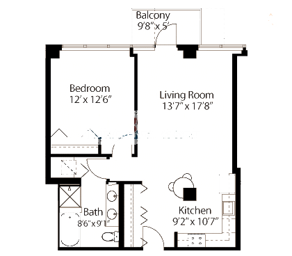 565 W Quincy Floorplan - 03 Tower Tier
