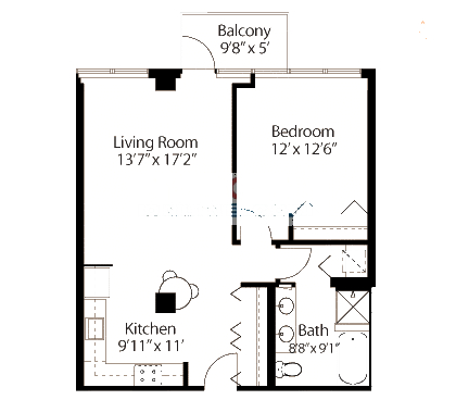 565 W Quincy Floorplan - 04 Tower Tier*