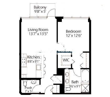 565 W Quincy Floorplan - 05 Tower Tier*
