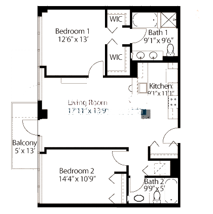 565 W Quincy Floorplan - 08 Tower Tier