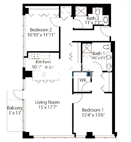565 W Quincy Floorplan - 09 Tower Tier