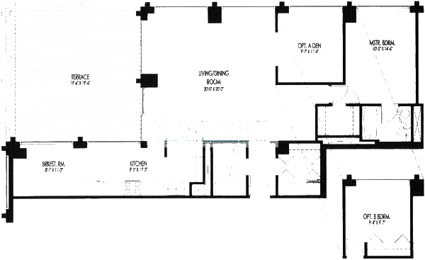 61 W 15th St Floorplan - 1001, 1002 Tier*