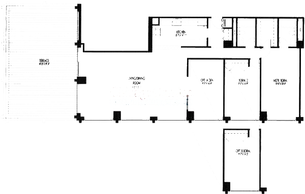 61 W 15th St Floorplan - 1003, 1004 Tier*