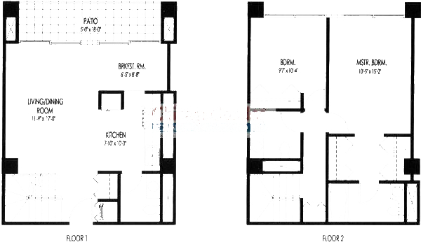 61 W 15th St Floorplan - 101, 102, 103, 104 Duplex Tier*
