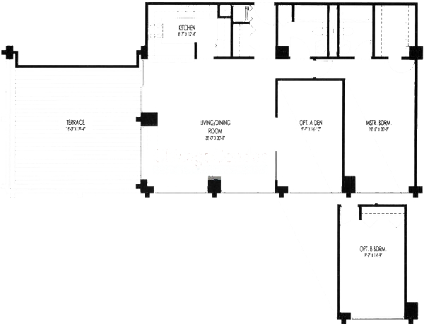 61 W 15th St Floorplan - 1102, 1103 Tier*