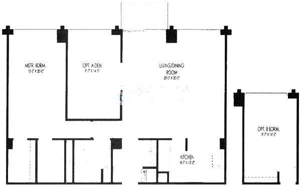 61 W 15th St Floorplan - 302-602, 305-605 Tier*