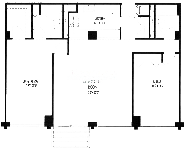 61 W 15th St Floorplan - 310-610 Tier*