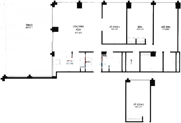 61 W 15th St Floorplan - 701, 705 Tier