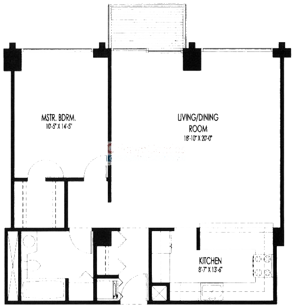 61 W 15th St Floorplan - 702, 704 Tier*