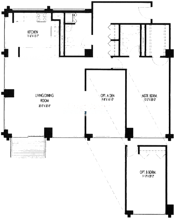 61 W 15th St Floorplan - 706, 712 Tier*