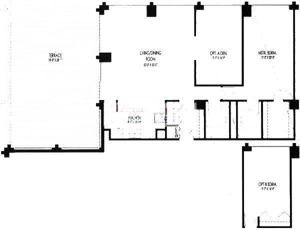 61 W 15th St Floorplan - 801, 804 Tier*