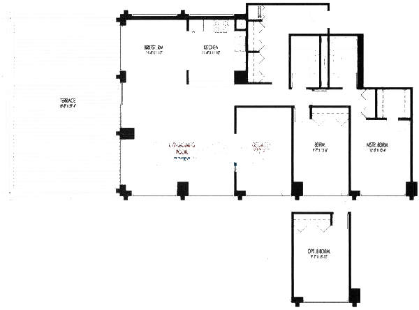 61 W 15th St Floorplan - 805, 809 Tier*