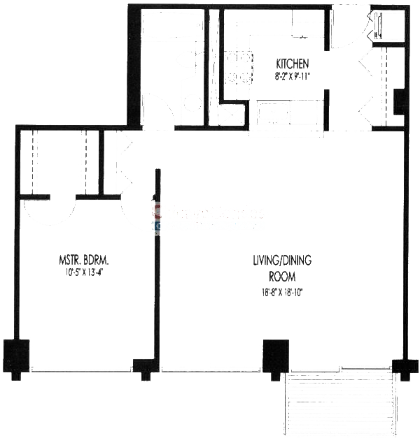 61 W 15th St Floorplan - 806,707,710,308-808,309-609,311-711,312-612 Tier*