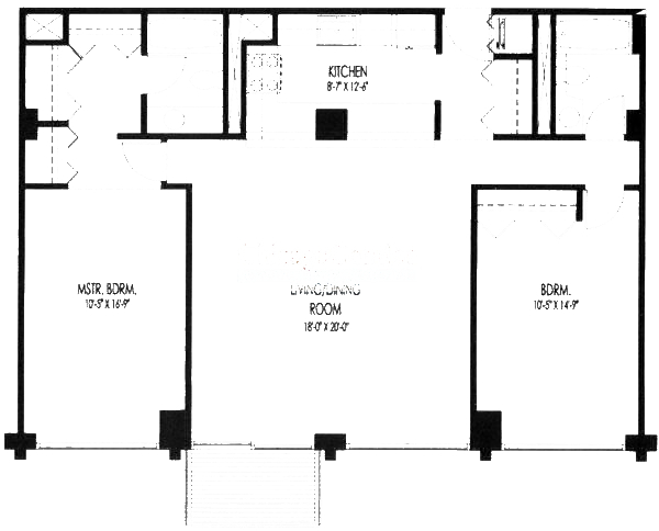 61 W 15th St Floorplan - 807, 709 Tier*