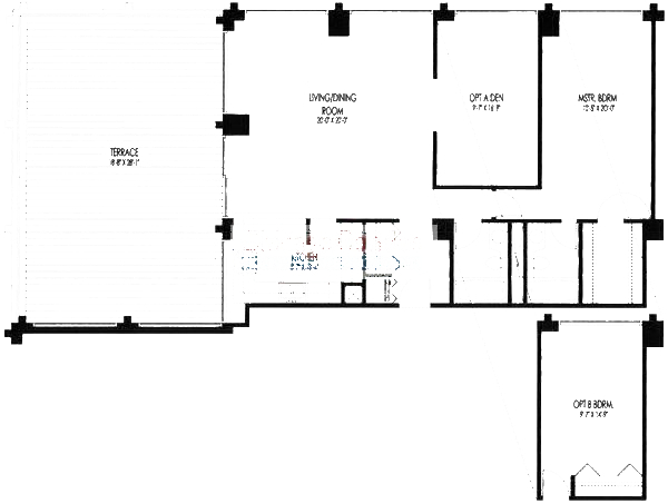 61 W 15th St Floorplan - 901, 903 Tier*