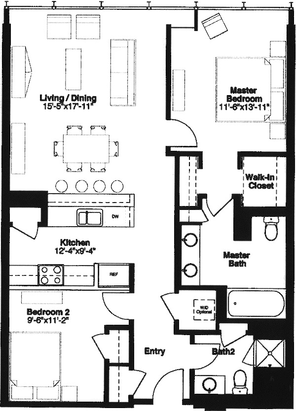 500 W Superior Floorplan - C (04& 06) Tier
