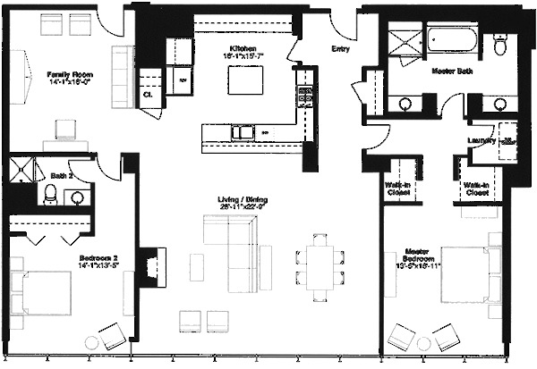 500 W Superior Floorplan - Skyview J1 (03) Tier
