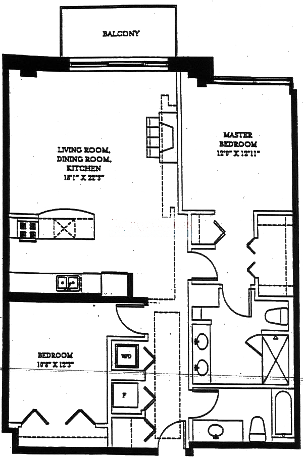 1201 W Adams Floorplan - 02 Tier