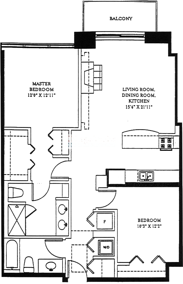 1201 W Adams Floorplan - 03 Tier*