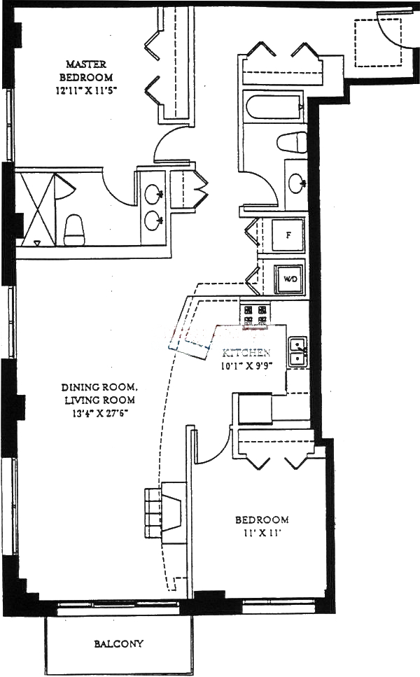 1201 W Adams Floorplan - 11 Tier*