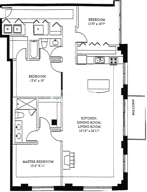 1201 W Adams Floorplan - 05 Tier*
