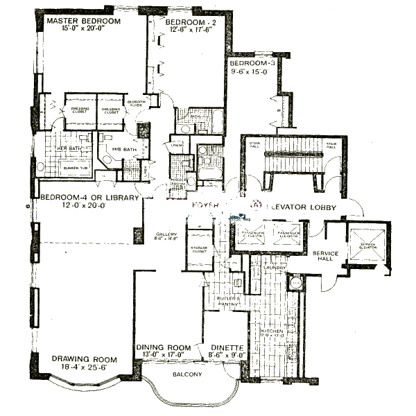 1040 N Lake Shore Drive Floorplan - A Tier