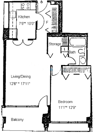 1960 N Lincoln Park West Floorplan - 01, 06, 07, 08, 11, 12 Tier
