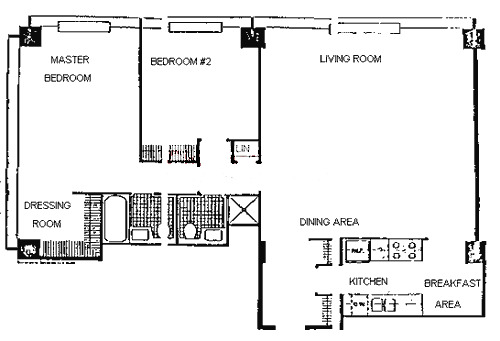 900 N Lake Shore Drive Floorplan - 03 Tier