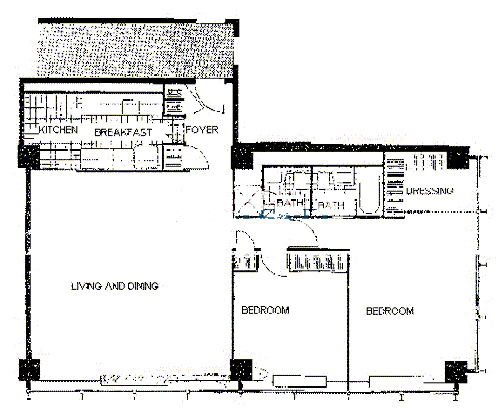 900 N Lake Shore Drive Floorplan - 12 Tier