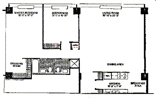 900 N Lake Shore Drive Floorplan - 13 Tier