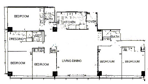 900 N Lake Shore Drive Floorplan - 20 Tier*