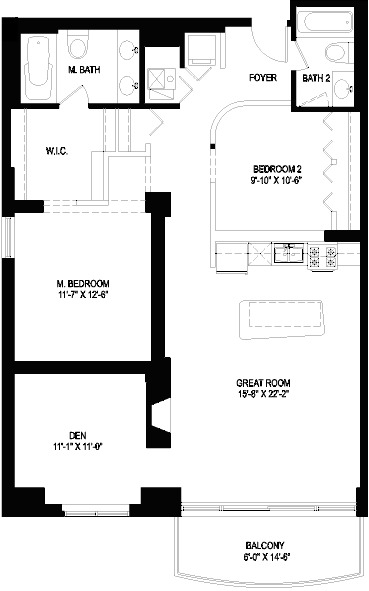 1330 W Monroe Floorplan - 01 Tier*